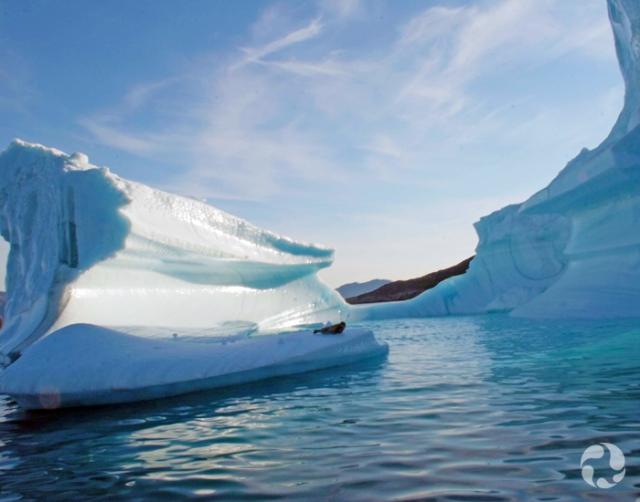 Un iceberg près du rivage.