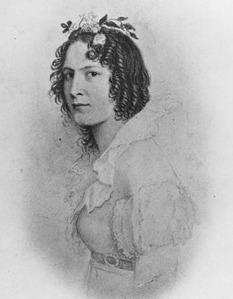 Portrait miniature de Catharine Parr Strickland.