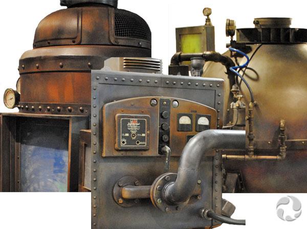 Trois machines à fabriquer des roches: le magmateur, le métamorphiseur et le sédimentateur.