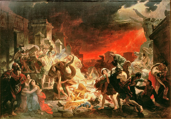 Le Dernier Jour de Pompéi, peinture à l'huile sur toile de  Karl Pavlovich Bryullov.