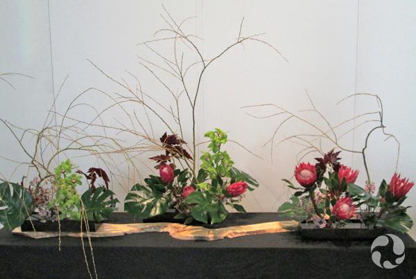 Un arrangement Ikebana de l'école Ohara.
