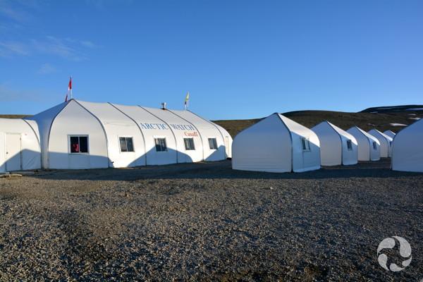 Vue du bâtiment principal et des pavillons.