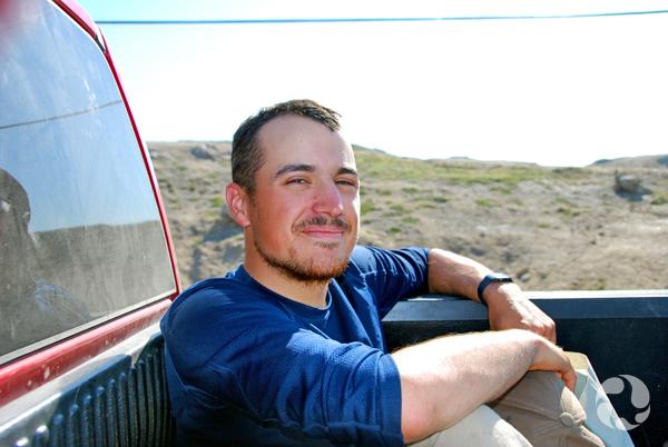 Paul Sokoloff en camion.