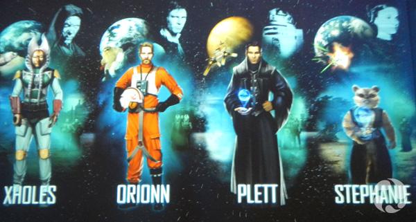Plusieurs personnages de la Guerre des étoiles.