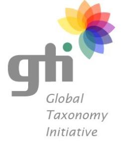 Le logo de l'Initiative taxonomique mondiale.