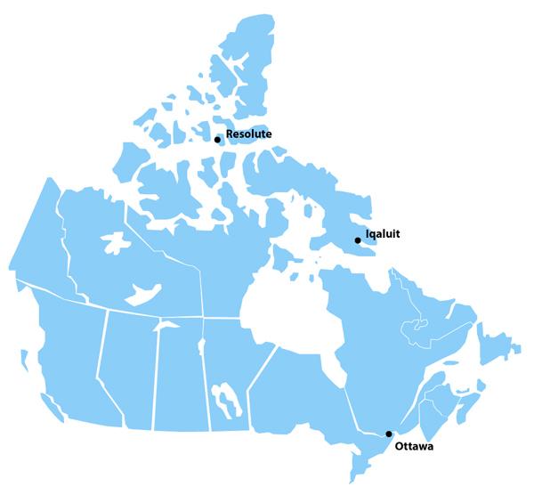 Une carte montrant les lieux pertinents.