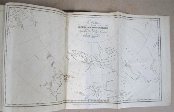 Carte incomplète des côtes de l'océan Arctique.