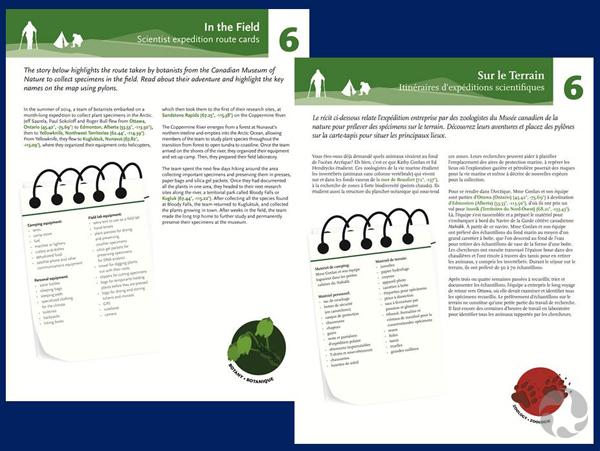 Deux pages contenant les descriptions des  plans de leçon sur les expéditions du Musée.