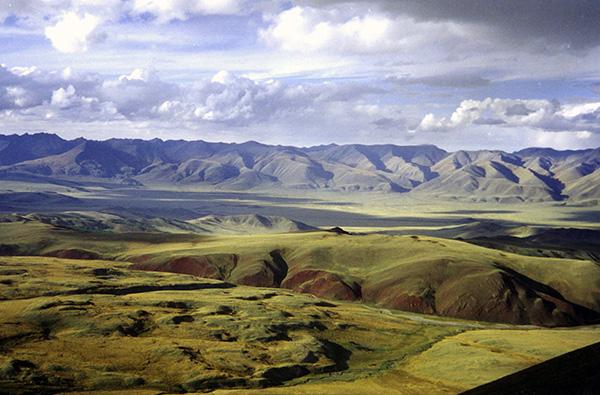 Photo d'une steppe actuelle en Russie.